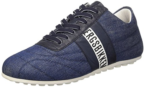 Bikkembergs Soccer 633 L.Shoe M Denim/Leather Scarpe Low-Top, Uomo, Blu, 42