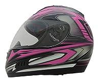 Vega Helmets Altura Full Face Helmet with Velocity Graphics (Pink, Medium) from Vega Helmets