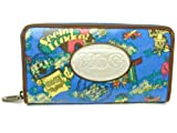 HbG エイチビィジィ It's a Small World Amber Wallet ラウンドファスナー長財布 112122008 ブルー