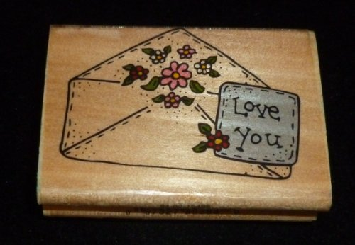 Love You Envelope Rubber Stamp - 1