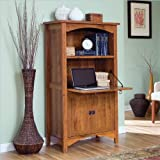 Sauder Rose Valley Laptop Cabinet Abbey Oak