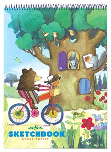 eeBoo Bear on Bicycle Sketchbook - 1