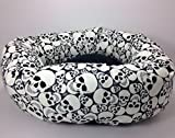 Glow in the Dark Skulls Round Pet Bed – Group One Dog Gallery (Small)