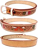 Leather Belt in Natural Color Mexico Design