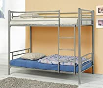 Hot Sale Coaster Modern Contemporary Metal Bunk Bed, Silver, Twin