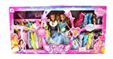 My Beautiful Angel Princess 28 Piece Double Toy Doll Playset, Comes w/ 23 Different Dress Outfits, 2 Princess Dolls, Hand Bag, Travel Case, Make Up Case