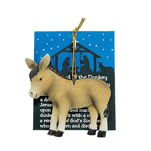 """Legend of the Donkey""Christmas Ornaments 1 Dozen"