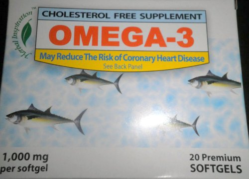 Omega 3 Cholesterol Free Supplement 1.000 Mg 20 Premium Softgels