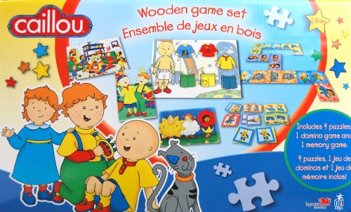 Caillou Wood Game Set - 1