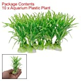 51Kz8NAOipL. SL160  10PCS Plastic Green Aquarium Fish Tank Plant Green