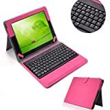 Hot pink new leather case Wireless bluetooth keyboard for ipad 2 3rd 4th GEN