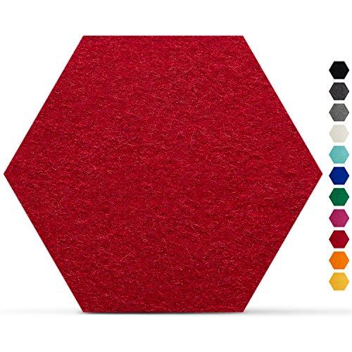 SMACC-No003-Filzuntersetzer-Hexagon-8er-Set-Farbe-whlbar-Glasuntersetzer-aus-100-Schafwolle-fr-Bar-und-Tisch-Rot