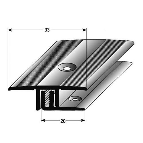 auer bergangsprofil laminat parkett 7 15 mm einfassung alu eloxiert gebohrt silber. Black Bedroom Furniture Sets. Home Design Ideas