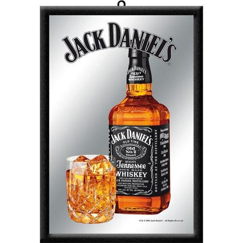 Nostalgic Art 80705 - Specchio con bottiglia Jack Daniels, 20 x 30 cm