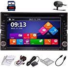LELEC® Win8 GPS 6.2 Inch 2Din Touch Screen BT Bluetooth TV Navigation iPod Subwoofer Output SD/USB Support Car Vehicle DVD Player Radio Stereo + Backup Rear View Camera #B42014