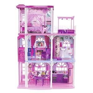 Mattel Barbie粉色三层梦幻小屋
