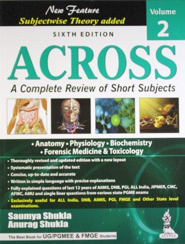 ACROSS VOL.2(A COM.REV.OF SHORT SUB) ANATOMY/PHY/BIO/FORENSIC MED.