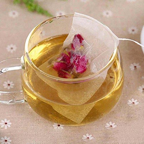 Ddu(Tm) 100Pcs String Empty Teabags Heat Seal Filter Herb Tea Leaves Bag 5.5Cm*6Cm