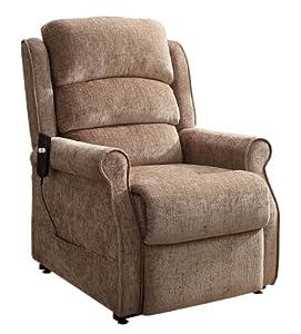 Homelegance 8509-1LT Power Lift Recliner Chair, Brown Chenille