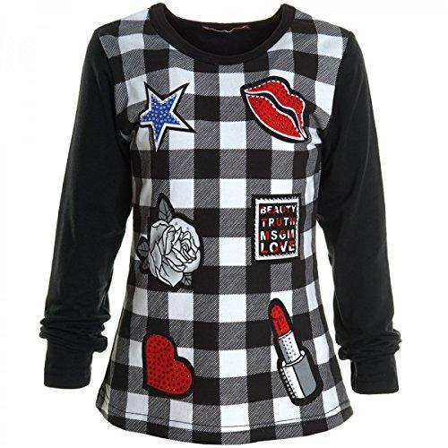 madchen-bluse-shirt-pullover-langarmshirt-longsleeve-sweatshirt-t-shirt-20522-farbeschwarzgrosse104