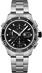 c290d1f75db Tag Heuer Aquaracer Black Dial Chronograph Stainless Steel Automatic Mens  Watch CAK2110BA0833 Model# 72853-