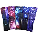 COOLOMG Pair Youth Adult Power Shooter Arm Sleeve Compression Padded Baseball Basketball Cycling Nebula Sky XXS-XL