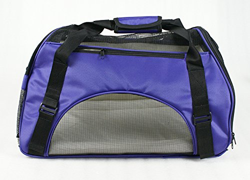 Zeny® Pet Carrier Soft Sided Cat/Dog Comfort Travel Tote Bag Airline Approved (Purple)