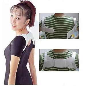 Amazon.com: Beauty White Back Posture Women Body Shoulder ...