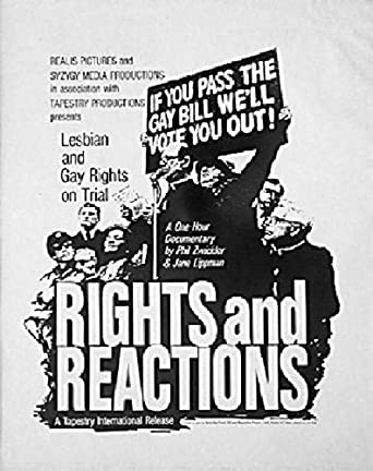 RIGHTS AND REACTIONS: LESBIAN AND GAY RIGHTS ON TRIAL 1988 Original USA Movie Poster