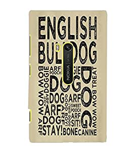 NOKIA LUMIA 920 ENGLISH BULLDOG Back Cover by PRINTSWAG