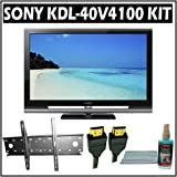 Sony Bravia V-Series KDL-40V4100 40-inch 1080P LCD HDTV and Accessory Outfit Outfit With Wall Mount