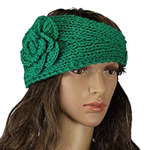 Crochet Hair Amazon : Buy Adorox Womens Flower Braided Chunky Crochet Cableknit Head Wrap ...
