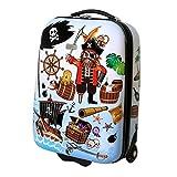 Karry Kinder Hartschalen Handgepäck Koffer Bordgepäck Kabienentrolley Kinderkoffer für Jungen