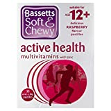 6 x Bassetts Soft & Chewy Active Health Multivitamins with Minerals 30 One a Day Raspberry Pastilles