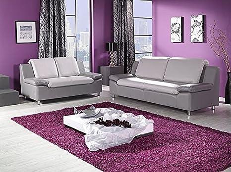 Garnitur Mailand 3-2 mit Bettfunktion und Bettkasten Sofa Couch Wohnlandschaft
