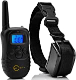 [2015 Upgraded with LED Backlight] Esky® Rechargable LCD Remote Control Dog Training Shock Collar with 100 Level Shock and Vibration, US Charger Included