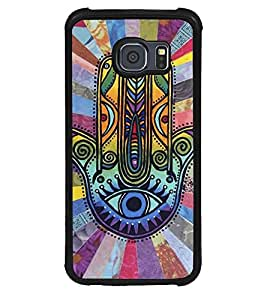 Aart Designer Luxurious Back Covers for Samsung Galaxy S6 + Lazy 360 Foldable Mobile Stand for Mobiles by Aart Store.