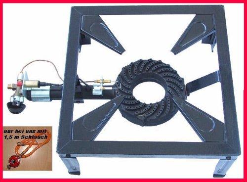 Gas-Hockerkocher Profi 9,5 KW Hockerkocher inkl. 1,5 m Schlauch und Regler günstig bestellen
