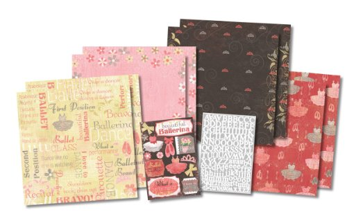 Karen Foster Design, Themed Paper and Stickers Scrapbook Kit, Ballet Class