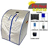 FIR-Real Far Infrared Portable Sauna w/ Ceramic Heater & Panels (Large Size)