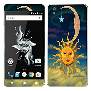 Theskinmantra Sun moon stars mobile decal/skin (IT IS NOT A BACK COVER) for OnePlus X