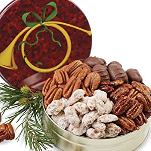 Milk Chocolate Covered Pecans - 12 oz. (Gift Tin)