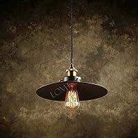 Modern Vintage Industrial Metal Black Loft Bar Ceiling Light Shade Retro Pendant Light by Lomt Sweden