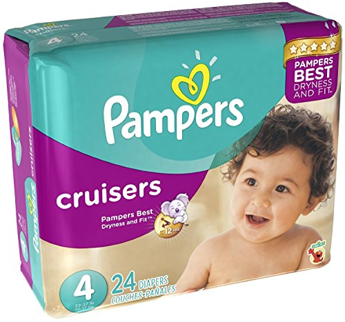 Pampers Cruisers Diapers Size 4 24 CT (Pack of 6)