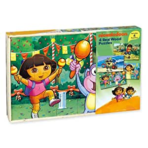 Dora the Explorer Puzzle Games Rompecabezas Nickelodeon Play Kids Learning Toys