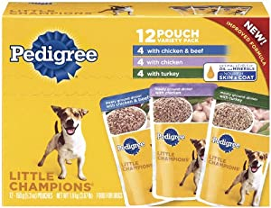 Pedigree Little Champions Traditional Ground Dinner Chicken Combo Pack, 3.97-Pound (Pack of 4)