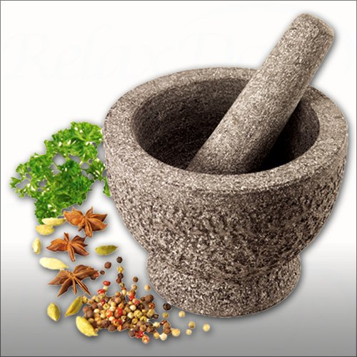 Mortar with pestle granite