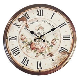 Decorazione shabby chic orologio da parete stile vintage for Numeri di casa in stile spagnolo