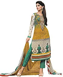 Desifab Women's Georgette Unstitched Dress Material (BSM01_Multicolor)