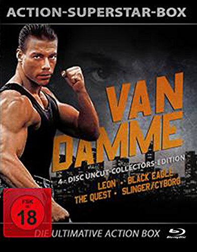Van Damme - 4-Disc Uncut Collectors Edition ( Leon - Black Eagle - Slinger - The Quest) [Blu-ray] [Collector's Edition]